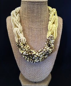 YELLOW & GOLD SEED BEAD NECKLACE