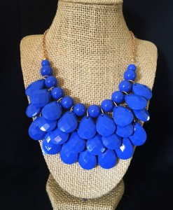 Royal Blue Teardrop Necklace
