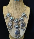 ANTIQUE SILVER & TURQUOISE NECKLACE