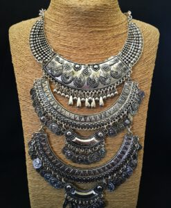 Triple Layer & Coin Statement Necklace