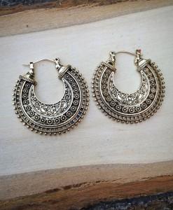 """"""" Medium """" Cut out Half Moon Earrings"""