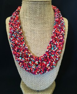 MULTI COLOR BRAIDED NECKLACE