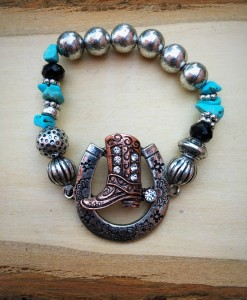 WESTERN BOOT STRETCH BRACELET