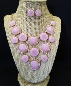 Detail Circle Necklace Set