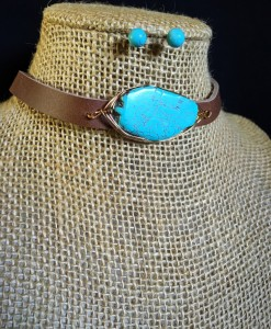 WIRE STONE CHOKER SET