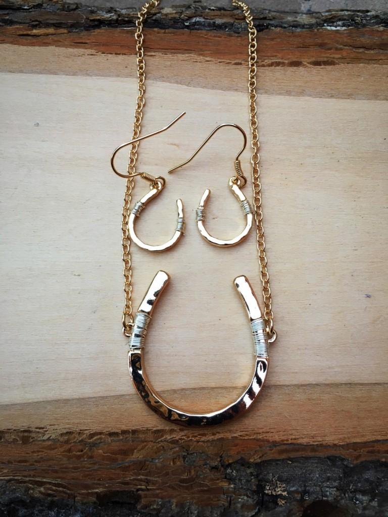 horseshoe & Wire necklace Set