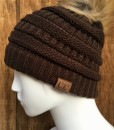 CHOCOLATE BROWN CC BEANIE