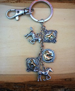 Silver & Gold Horse Charm Keychain