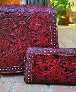 FLORAL TOOLED HANDBAG