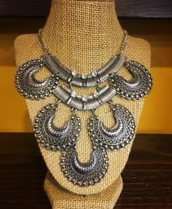 """"""" Dulce """" Antique Silver Necklace"""