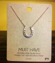 ROSE GOLD HORSESHOE MUST HAVE NECKLACE