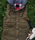 CASUAL CHIC MILITARY GREEN VEST