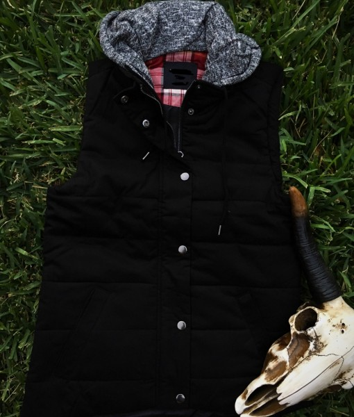 casual chic hoodie vest