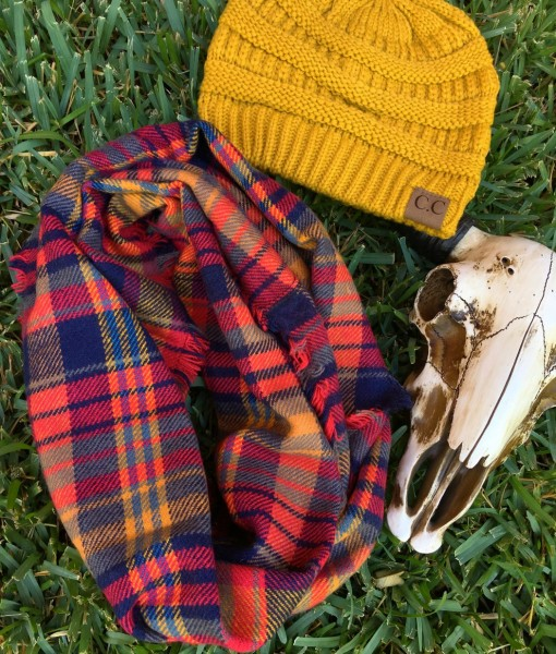 womens plaid scarf