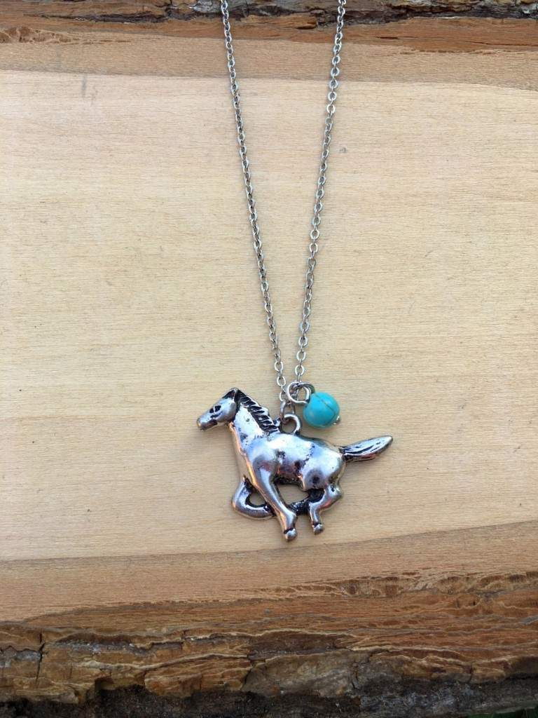 Running Horse & Turquoise Simple Necklace
