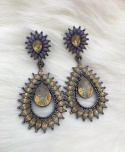 """ Koko "" Crystal Fashion Earrings"