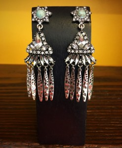 TURQUOISE & CRYSTAL EARRINGS