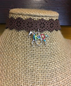 """ Candy Horse "" Flower Cut Out  & Horse Charm Choker"