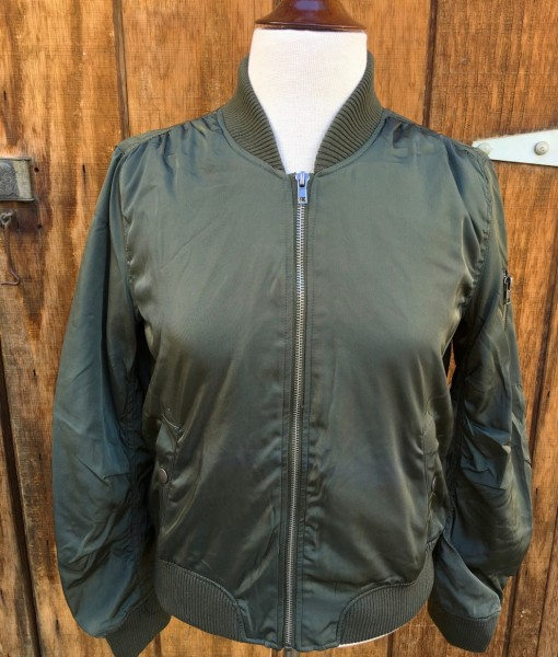 BOMBER JACKET OLIVE GREEN WOMENS