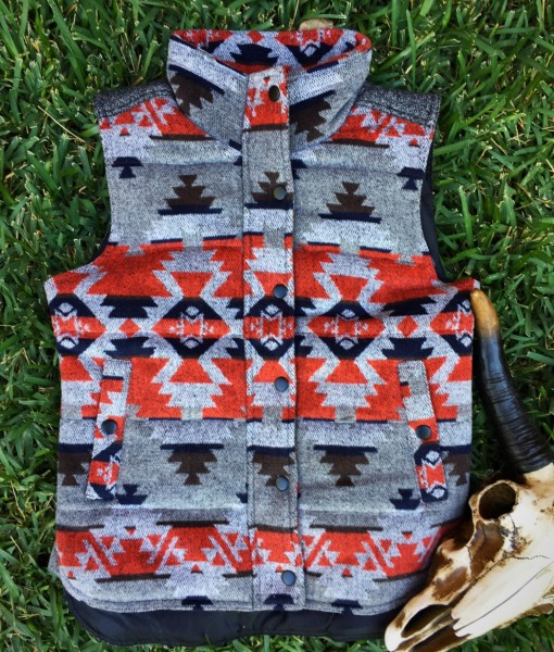 AZTEC DESIGN WOMENS VEST