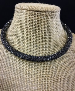 Crystal Choker ( Charcoal )