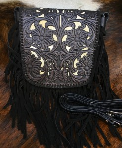 TRINITY RANCH FLORAL TOOLED CROSSBODY