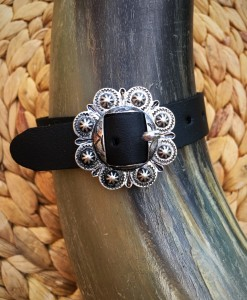 Black & Silver Concho Bracelet