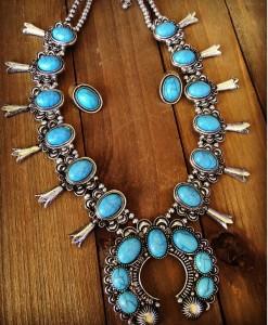 desert squash blossom necklace set