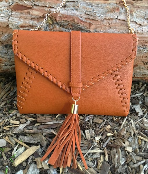 """ Tiffany "" Leather Clutch / Crossbody"