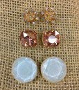 """ Sophia "" Crystal Stud Set Earrings ( Mint )"