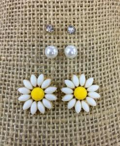 Daisy Flower Stud Set Earrings