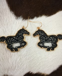 cut Out horse earrings