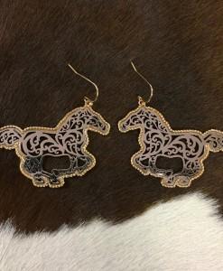 horse earrings
