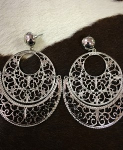 CUT OUT SILVER EARRINGS