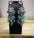 Turquoise & Crystal Fringe Earrings