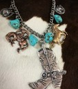 COWGIRL BOOT & WESTERN CHARM NECKLACE