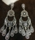 fashion earrings crystal