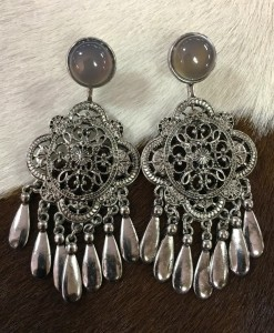 INDIA CUT OUT SILVER EARRINGS