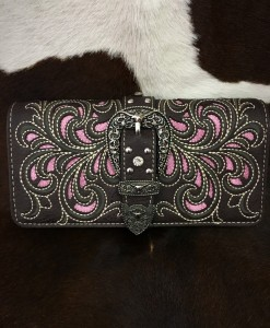 MONTANA WEST CUT OUT & BUCKLE WALLET