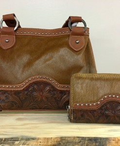 cochair & floral tooled purse