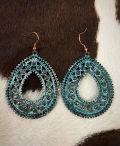 """ Luisa "" Antique Turquoise & Copper Earrings"