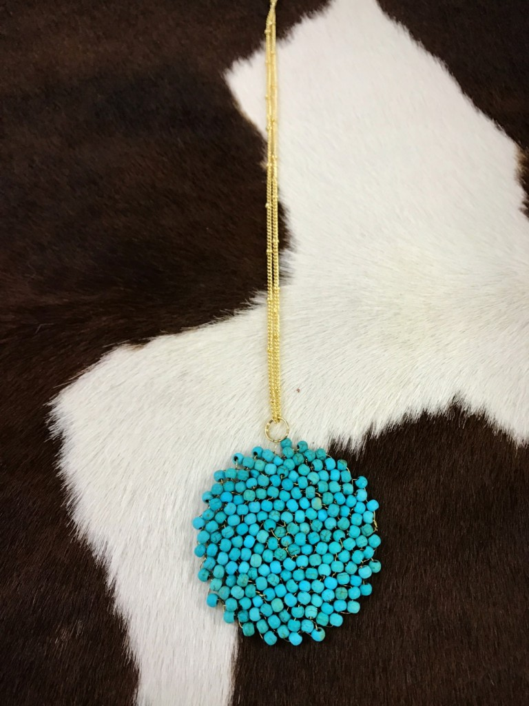 TURQUOISE SWIRLNECKLACE