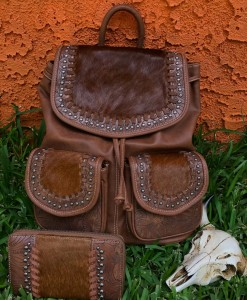 TRINITY RANCH COW HIDE BACKPACK