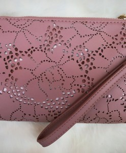 rose cut out wristlet