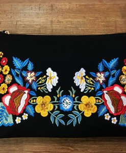 embroidery BLACK CLUTCH