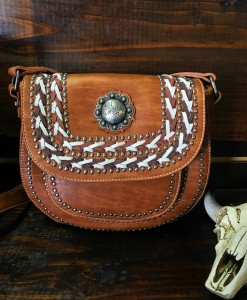 SADDLE CONCHO CROSSBODY