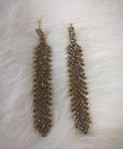 """ Everly "" Crystal Fashion Earrings ( gold )"
