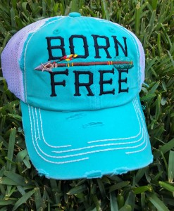 born free ball cap