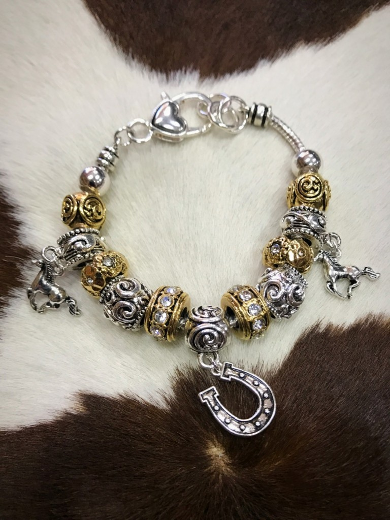 Gold & Silver Western Charm Bracelet