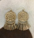 """ Isla "" Coin & Fringe Earrings"